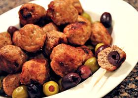 Olive-Stuffed-Turkey-Meatballs-